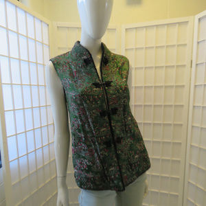 Silk Embroidered & Lined Asian Style Vest, 2-4